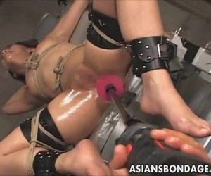Japanese bondage fucking machine - 5 min