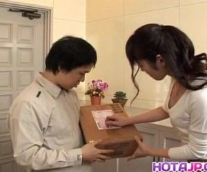 Haruna Ayase gets dildo and licked shlong - 10 min