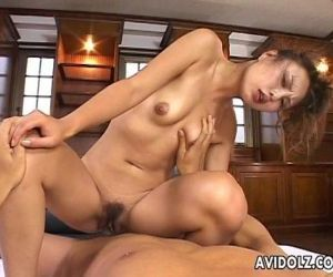 Gorgeous Japanese slut loves to ride on a thick boner - 8 min