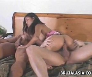 Ravishing Asian slut enjoys a kinky threesome - 14 min
