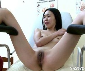 Petite Oriental Chick Shagged By Old Vagina Doc - 10 min