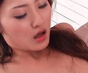 Amazing jap girl sucks and fucks two horny dicks at once - 5 min
