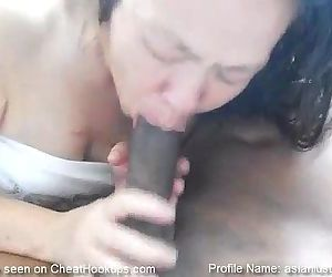 Asian GILF Takes a Throat Full of Black Cock - 48 sec