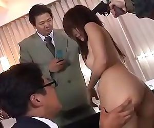 20 mans creampie in beautiful broadcaster Riko Tachibana 53 min