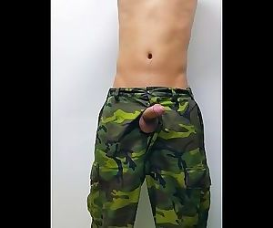 Army jerk off in dormitory