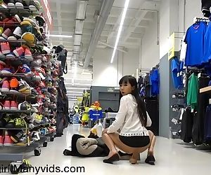 Gets Busted In A Sports Store, Anal & Squirt! - Littlesubgirl
