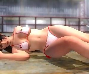 Dead or alive 5 sexy Momiji in tight bikini shameful ass & breast exposure!