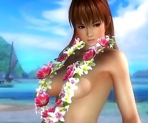 Dead or alive 5 sexy girls in micro bikini thong 3D animation bubble butt !