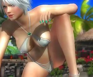 Dead or alive 5 Christie hot blonde in mini swimsuit bikini thong sexy ass!