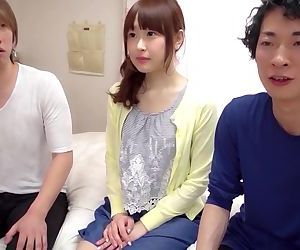 Erito - Petite Young Cutie Invites Two Boys in Her Bedroom