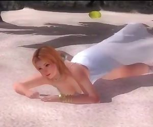 Dead or alive 5 Tina blonde MILF in see through dress let us see her butt !